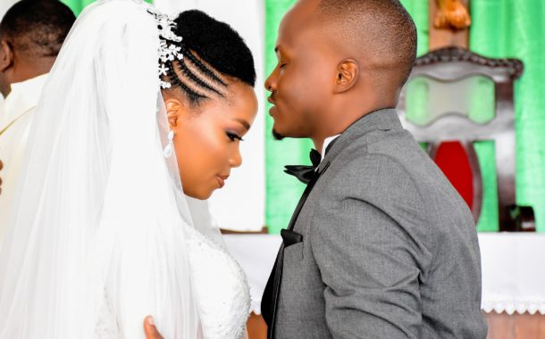 Denis & Getrude on the wedding day