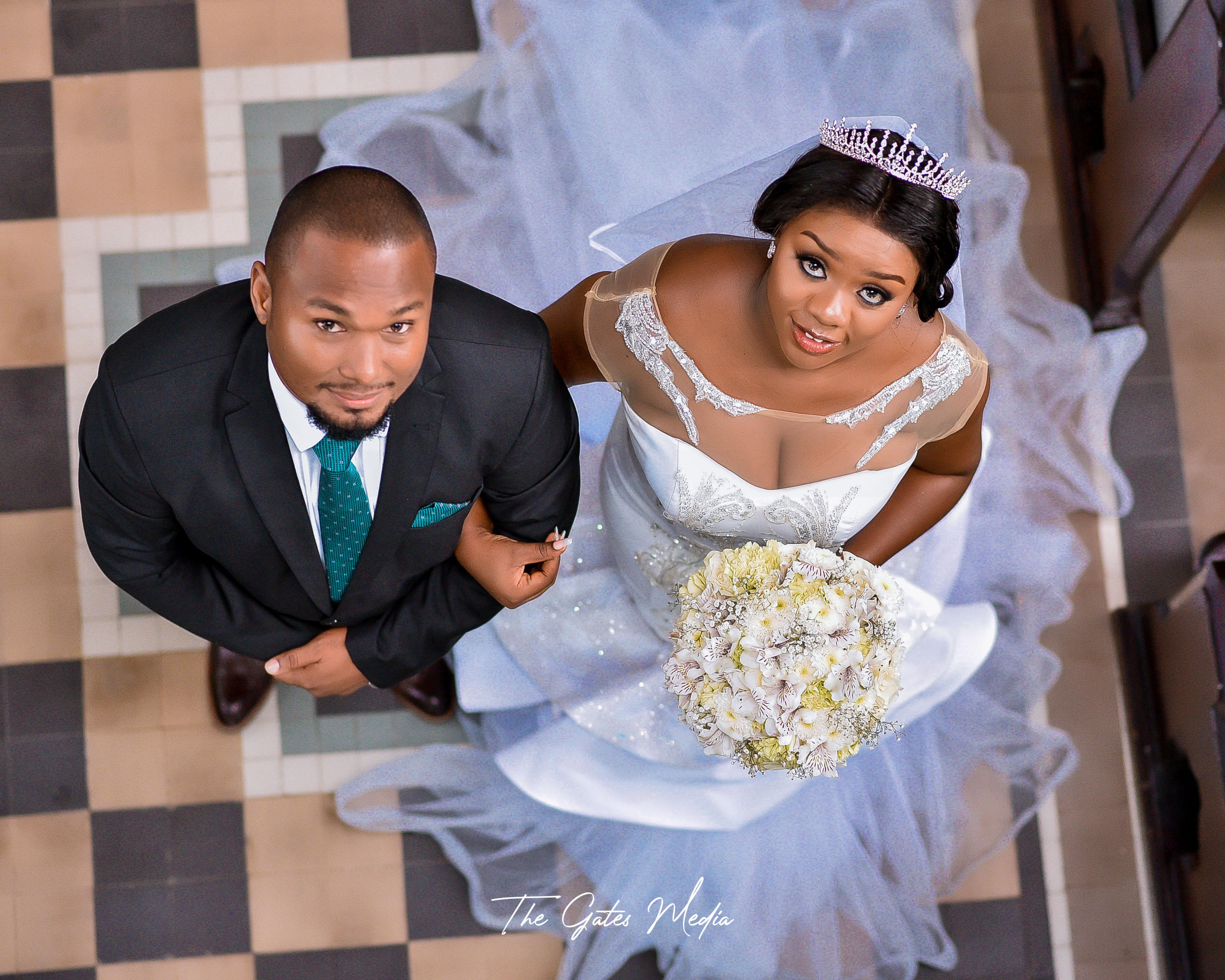 Elias & Marrystelah on their wedding day